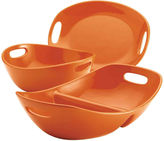 Rachael Ray 3-pc. Serving Bowls and Platter Stoneware Serving Set