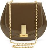 Zac Posen Loren Patent Chain-Strap Shoulder Bag, Clay