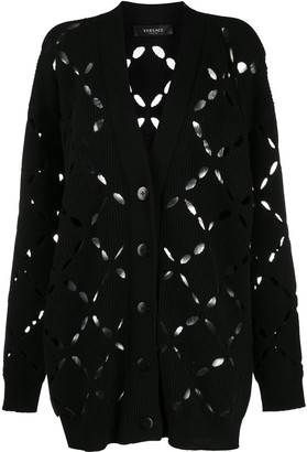Versace Cut-Out Pattern Cardigan