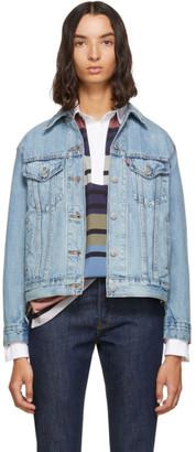 Levi's Levis Blue Denim Ex-Boyfriend Jacket