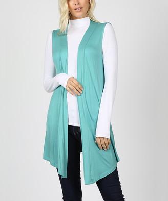 Ash Zenana Women's Open Cardigans ASHMINT_IPB Mint Open-Front Vest - Women