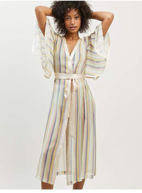 Sorbet Morgan Lane Clemence Robe In Stripe