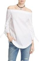 Urban Outfitters Women's Free People 'Show Me Some Shoulder' Off The Shoulder Cotton Blouse