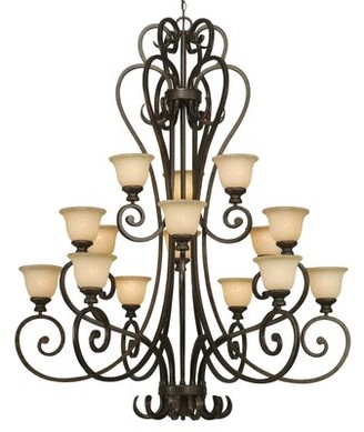 Wildon Home Cambridge 15 - Light Shaded Tiered Chandelier
