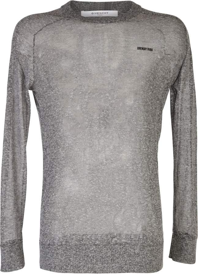 Givenchy Grey Sheer Sweater
