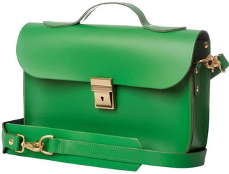 Trilogy Small Emerald Green Leather Rucksack & Satchel