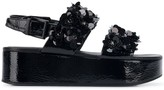 Kennel + Schmenger Kennel&Schmenger floral applique platform sandals