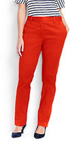 Lands' End Women's Plus Size Mid Rise Straight Leg Chino Pants-Sweet Persimmon