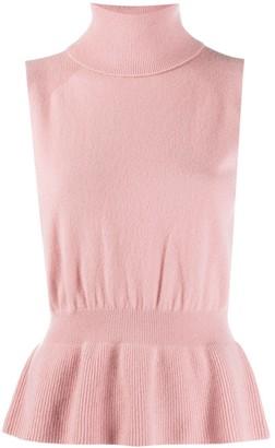 Veronica Beard Sleeveless Cashmere Knit Jumper