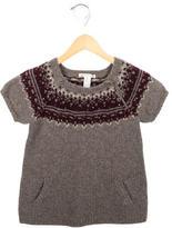 Bonpoint Girls' Patterned Wool Sweater