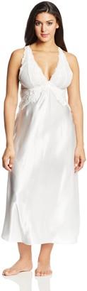 Cinema Etoile Women's Plus-Size Satin Gown Ivory 1X
