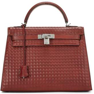 Hermes Rouge H Waffle Box Calf Kelly Sellier 32