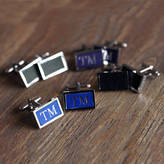 Undercover Leather Inlay Pair Of Cufflinks