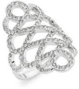 Michela Pave Filigree Cocktail Ring