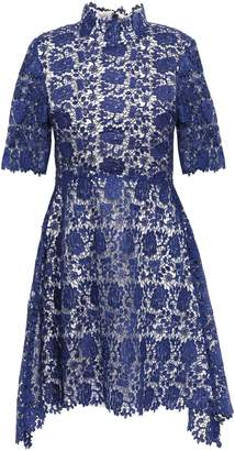 Catherine Deane Jeanne Fluted Guipure Lace Mini Dress