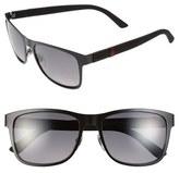 Gucci '2247S' 56mm Polarized Sunglasses