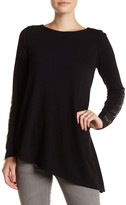 Karen Kane Faux Leather Accent Sweater