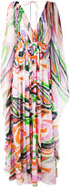 Emilio Pucci abstract print maxi dress - women - Silk/Polyamide/Spandex/Elastane - 40