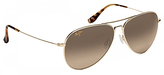 Maui Jim Gold & Bronze Aviator Sunglasses - Women