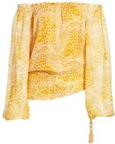 Ramy Brook Camellia Off-the-Shoulder Silk Blouse