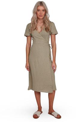 Billabong Jasmin Midi Wrap Dress