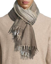 Brunello Cucinelli Wool/Cashmere Plaid Scarf