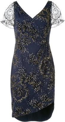 Marchesa Glitter Embellished Short Dress