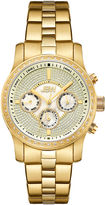 JBW Womens Diamond-Accent Gold-Tone Stainless Steel Bracelet Watch J6327D