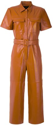 Eva Leather Jumpsuit