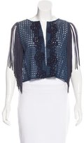 Pinko Fringe-Trimmed Embroidered Vest