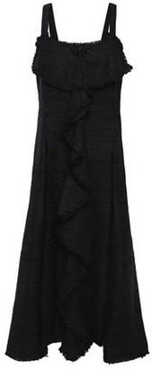 Proenza Schouler Ruffled Frayed Tweed Midi Dress