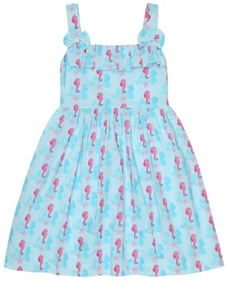 Rachel Riley Seahorse cotton dress