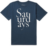 Saturdays Nyc Throhand Printed Cotton-Jersey T-Shirt