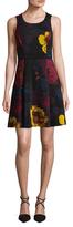 Rachel Roy Printed Scuba Fit & Flare Dress