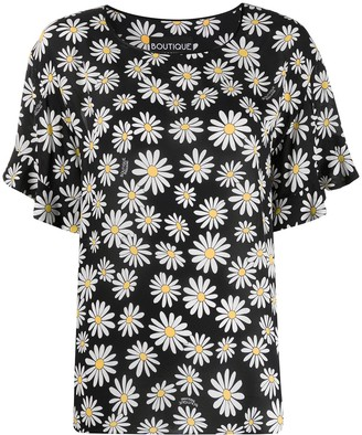Boutique Moschino Loose-Fit Daisy-Print Blouse