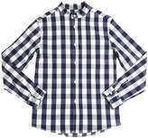 Myths Gingham Printed Cotton Poplin Shirt
