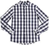 Myths Gingham Printed Cotton Poplin Shirt