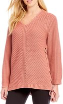 Gianni Bini Libby Lace Up Sweater