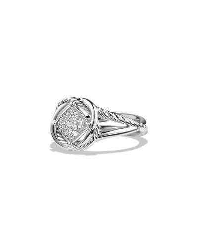 David Yurman 7mm Infinity Pave Diamond Ring