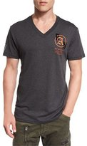 G Star G-Star Kaipoke Logo V-Neck T-Shirt, Black Heather