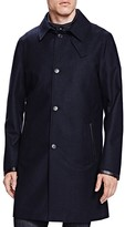 The Kooples New Flannel Twill Slim Fit Trench Coat