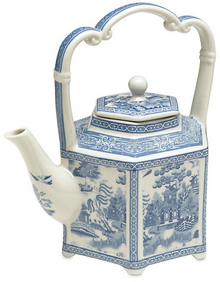 "One Kings Lane 9"" Chinoiserie Porcelain Teapot - Blue/White"
