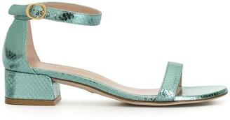 Stuart Weitzman June embossed style sandals