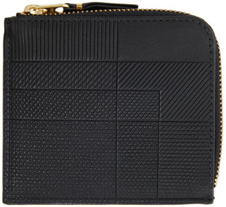 Comme des Garçons Wallets Black Intersection Half-Zip Wallet