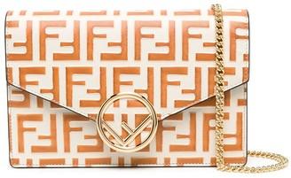 Fendi FF logo-embossed clutch bag