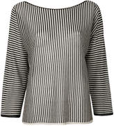 Twin-Set striped metallic blouse