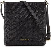 Cole Haan Lena Woven Leather Crossbody Bag, Black