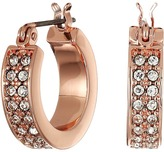 Lauren Ralph Lauren Rose Palais Small Pave Hoop Earrings