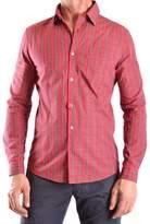 Daniele Alessandrini Men's Red Cotton Shirt.
