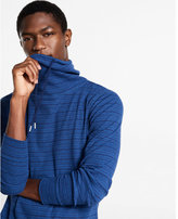 Express striped funnel neck tee